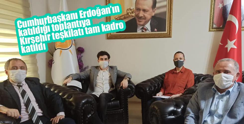 Kırşehir teşkilatı Erdoğan'ın toplantısına katıldı