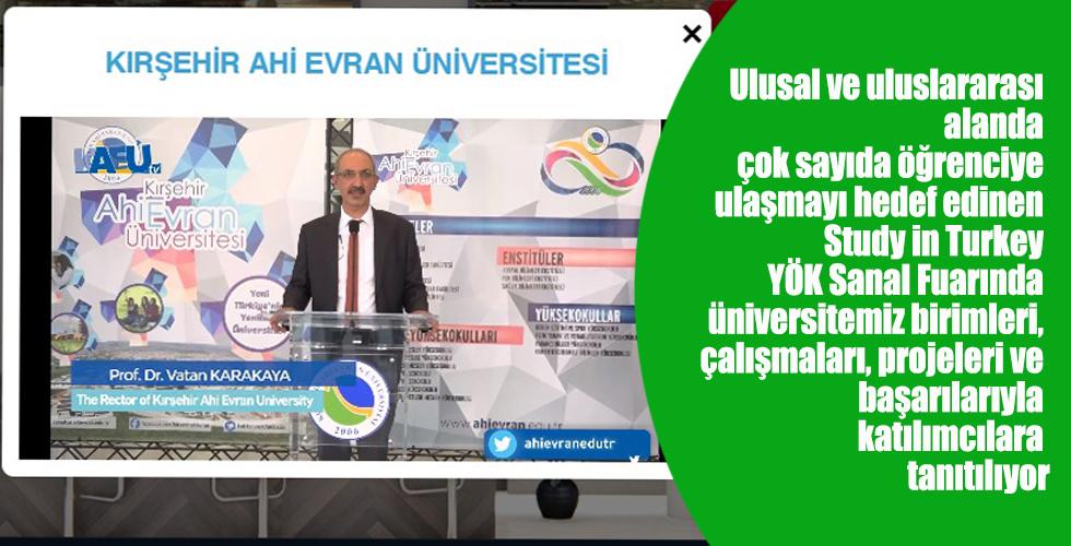 Üniversitemiz Study In Turkey YÖK Sanal Fuarında Yerini Aldı