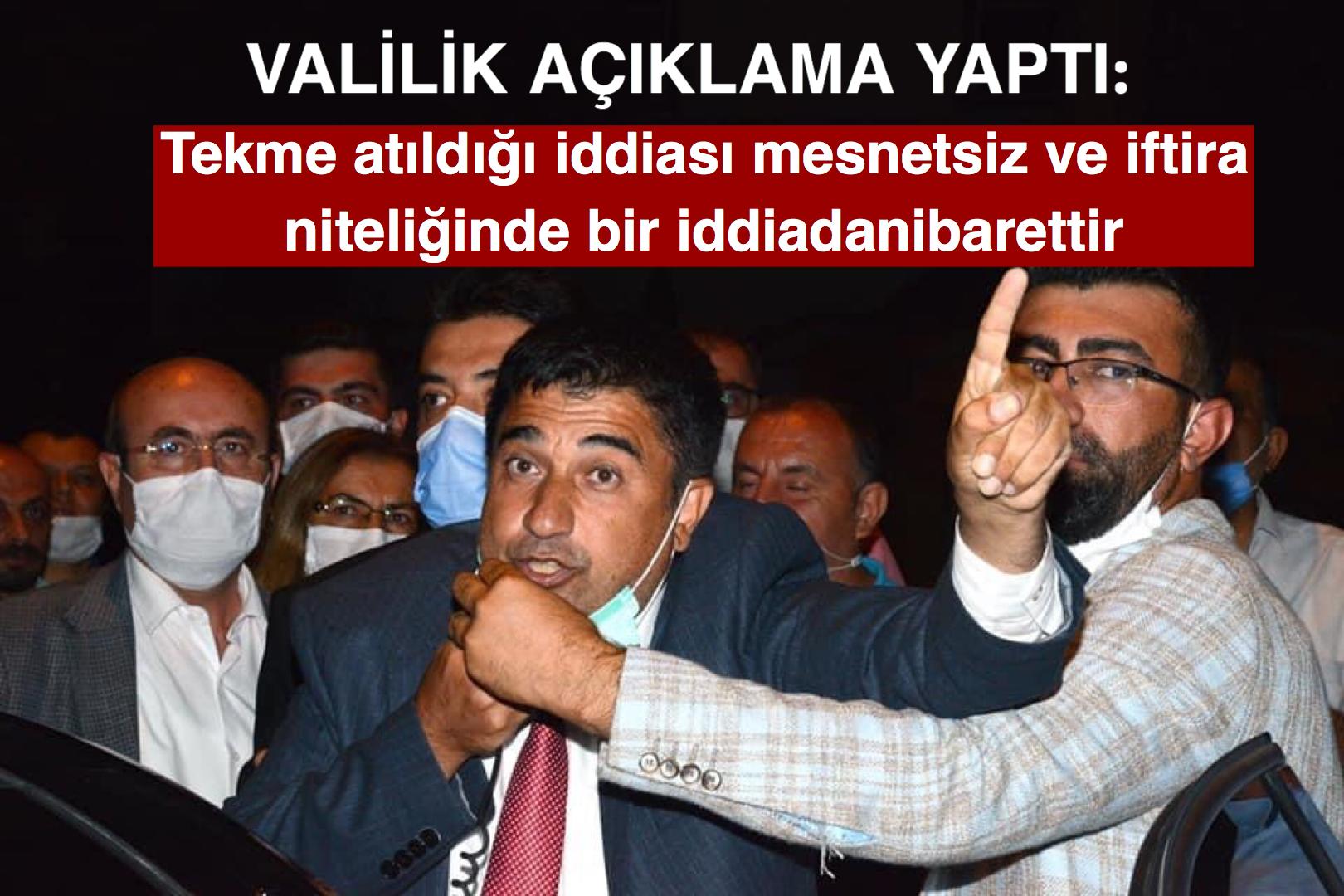 Kırşehir Valiliği: Tekme atıldığı iddiası mesnetsiz ve iftira niteliğinde bir iddiadan ibarettir