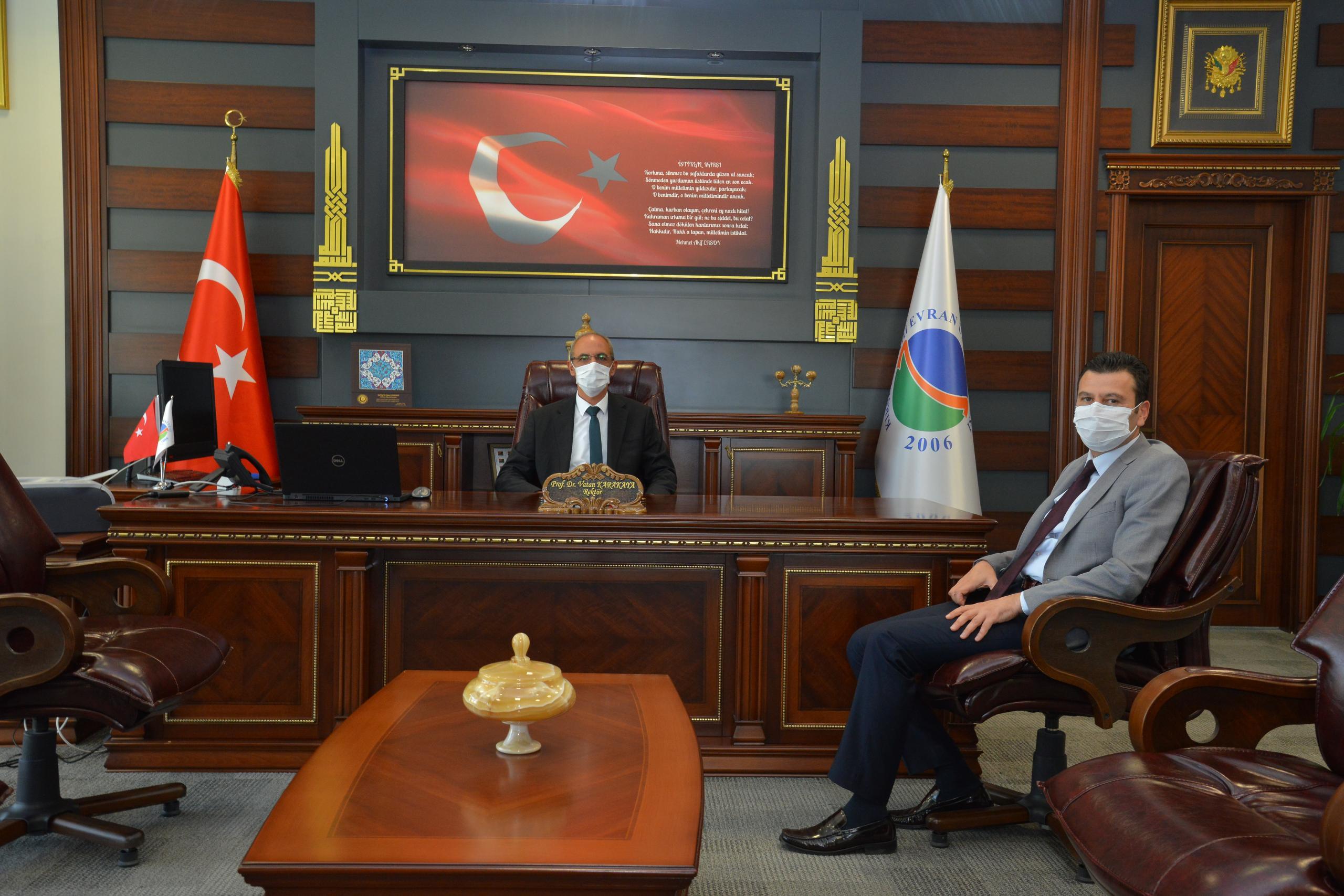 Gençlik ve Spor İl Müdürü Numan Nafiz Şahin Rektör Karakaya'yı Ziyaret Etti