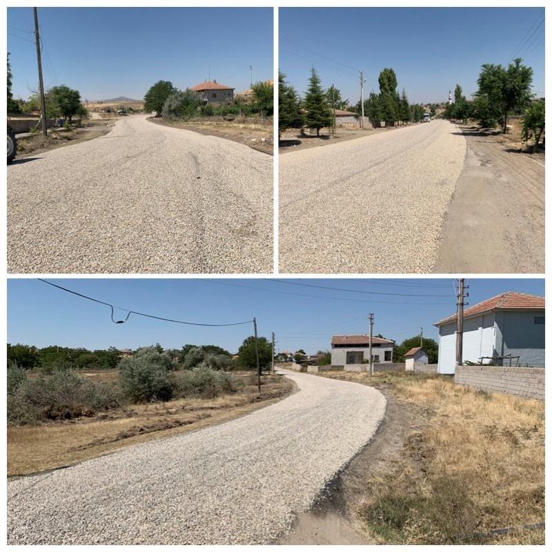 köy içi bağlantı yolları olmak üzere toplamda 6 km II.Kat Sathi Kaplama asfalt yol yapımı gerçekleştirildi