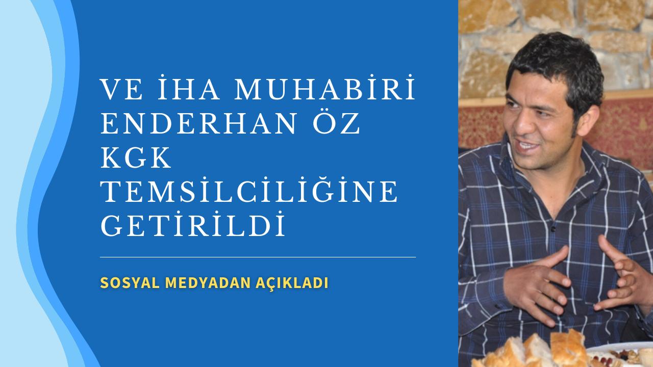 Enderhan Öz KGK Kırşehir temsilcisine getirildi