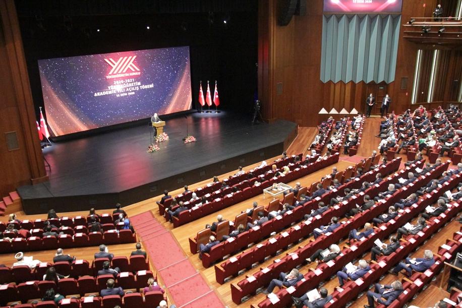 Rektör Karakaya Cumhurbaşkanlığı Külliyesinde Gerçekleştirilen 2020-2021 Akademik Yılı Açılış Törenine Katıldı
