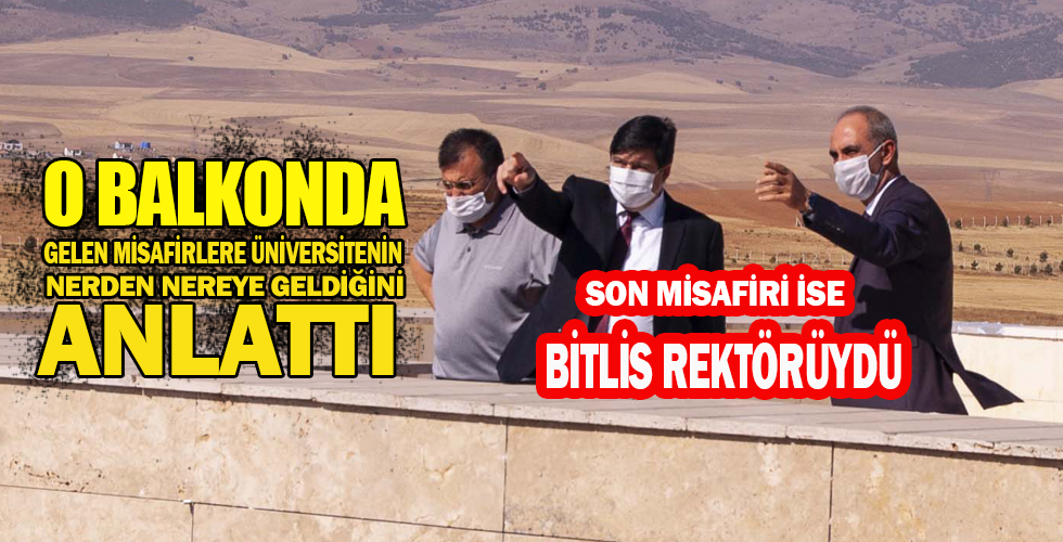 Bitlis Rektörü Prof. Dr. Yardım, Vatan Hocayı ziyaret etti