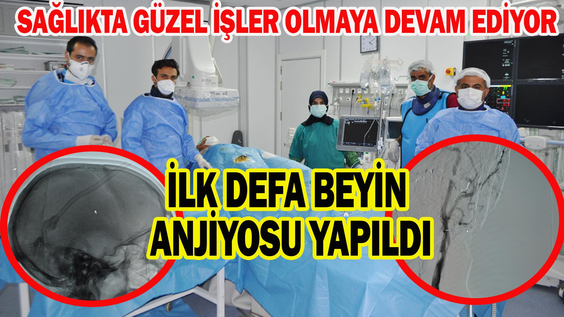 Kırşehir'de ilk beyin anjiyosu yapıldı
