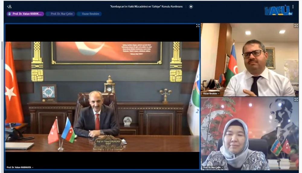AEÜ'de Azerbaycan'ın Haklı Mücadelesi ve Türkiye Konulu Konferans Yapıldı