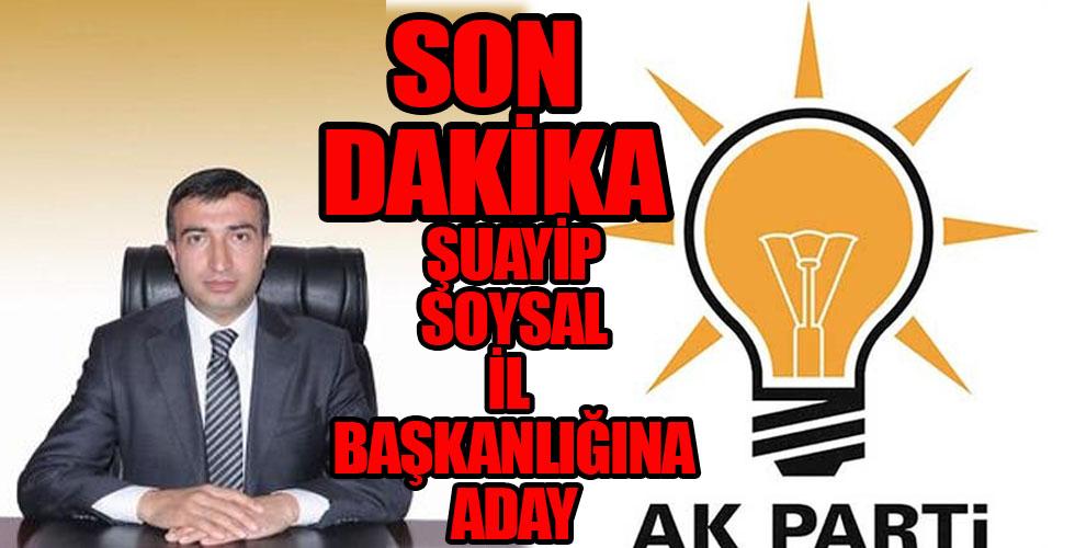 Şuayip Soysal: AK Parti İl Başkanlığına adayım
