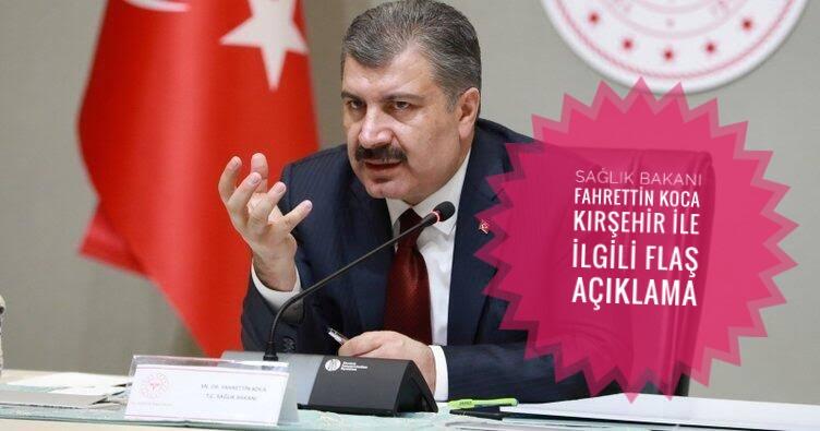 Bakan Koca'dan Kırşehir ile ilgili açıklama