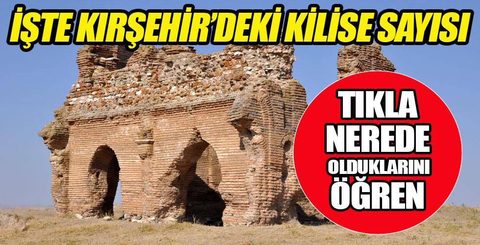 Kırşehir'de bakın kaç kilise varmış?