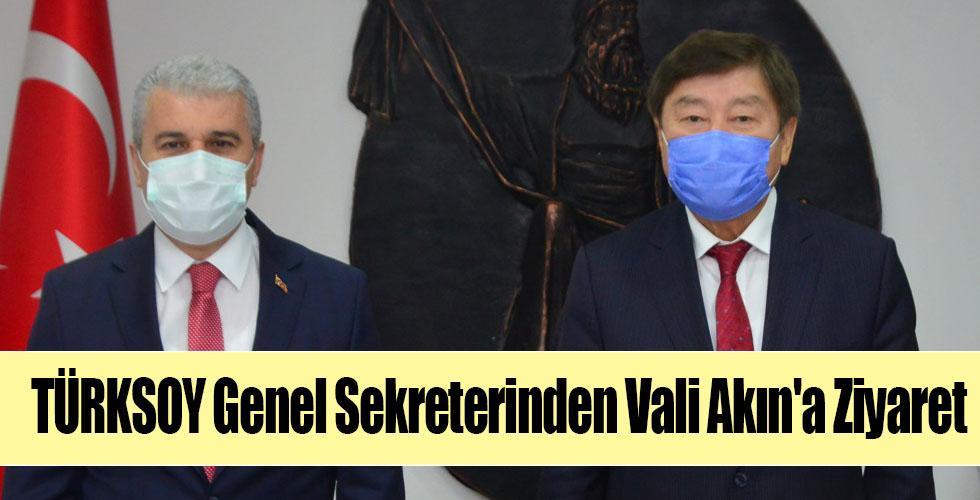 TÜRKSOY Genel Sekreterinden Vali Akın'a Ziyaret