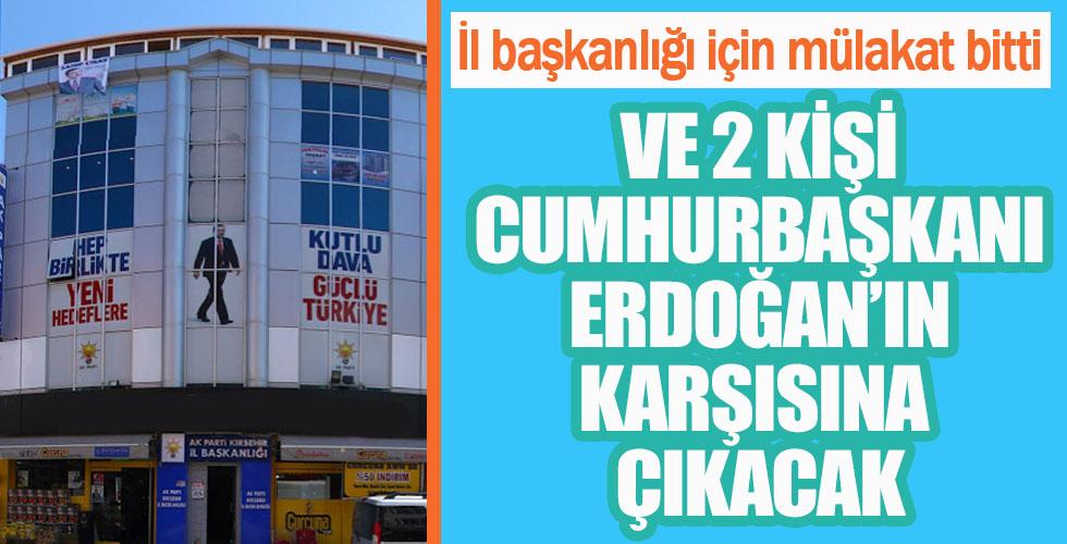 AK Parti İl Başkanlığı için mülakat bitti