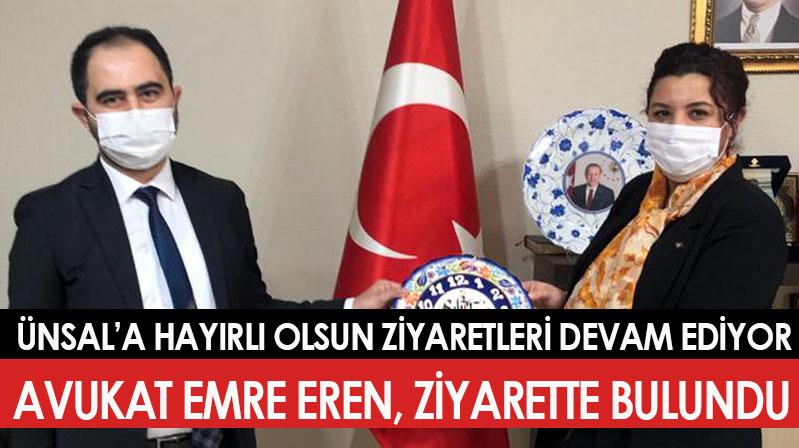 Eren'den İl Başkanı Ünsal'a ziyaret