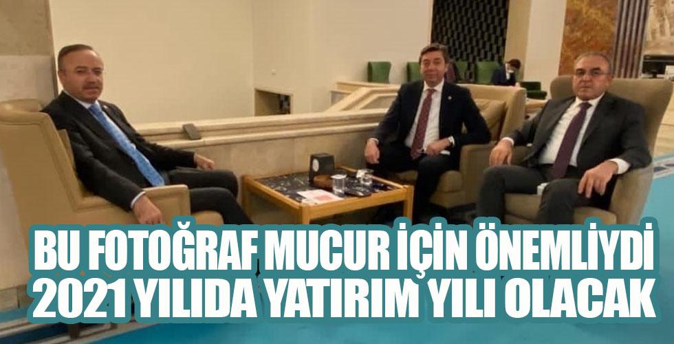Başkan Yılmaz, yatırımları Turan ve Kendirli ile görüştü