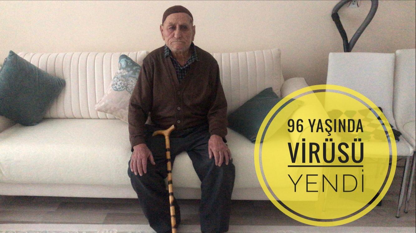 96 yaşında virüsü yendi