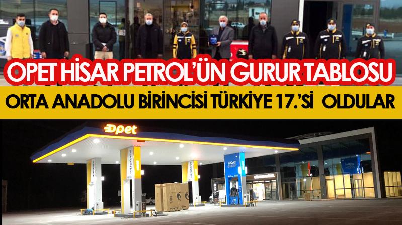 Orta Anadolu 1.'si Opet Hisar Petrol gururlandırdı