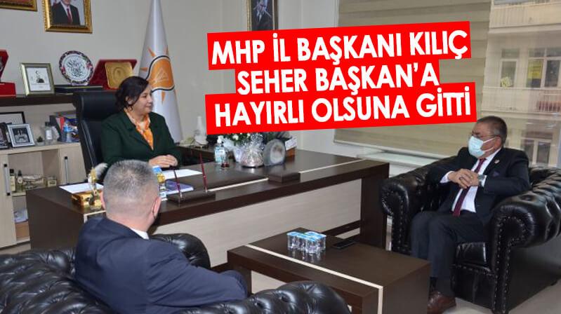 MHP heyetinden Seher Başkan'a hayırlı olsun ziyareti