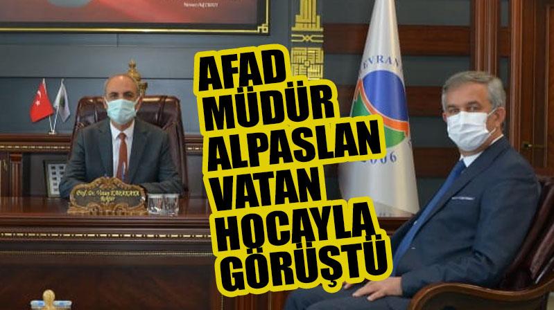 Kırşehir AFAD İl Müdürü Metin Alpaslan Rektör Karakaya'yı Ziyaret Etti