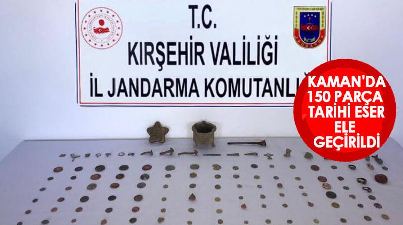 Kaman'da 150 adet tarihi eser parça yakalandı