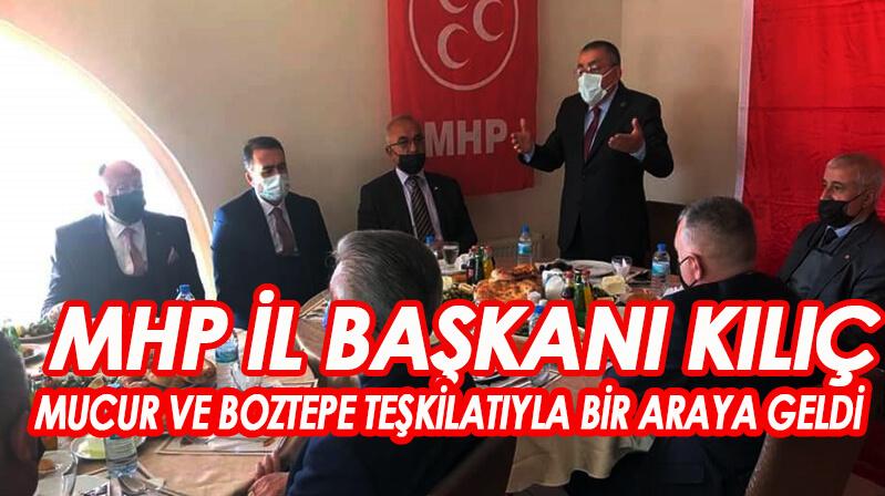 MHP Mucur'da toplantı yaptı