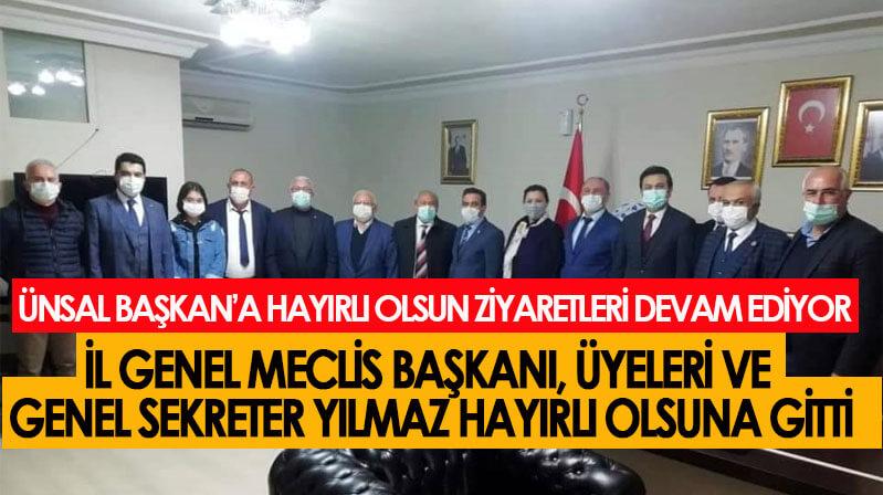 İl Özel İdaresi ekibinden İl Başkanı Ünsal'ı ziyaret etti