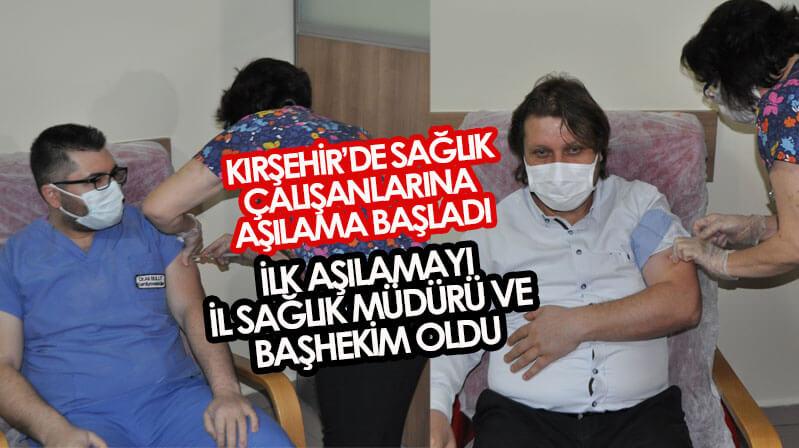 Kırşehir'de aşı başladı