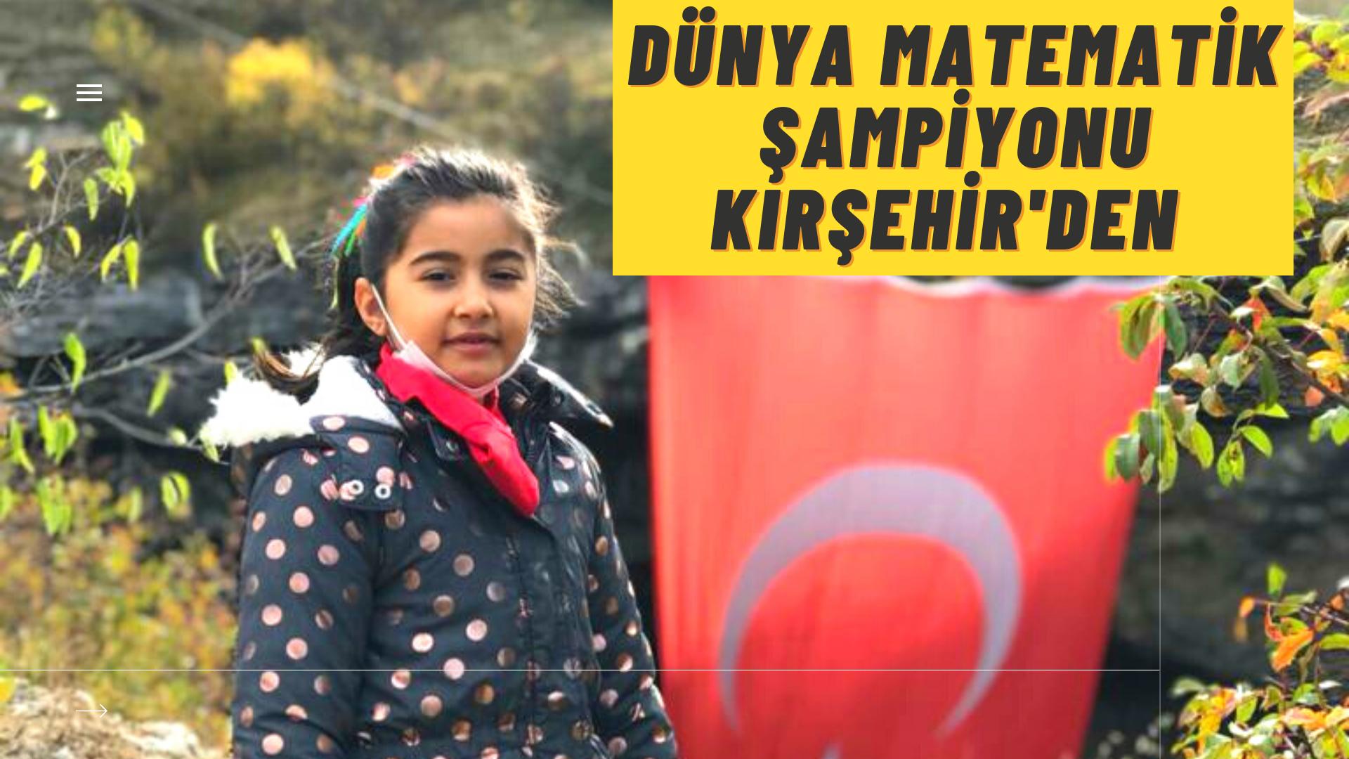 Dünya matematik şampiyonu Kırşehir'den