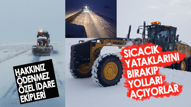 Özel İdare ekipleri karla mücadeleye devam ediyor