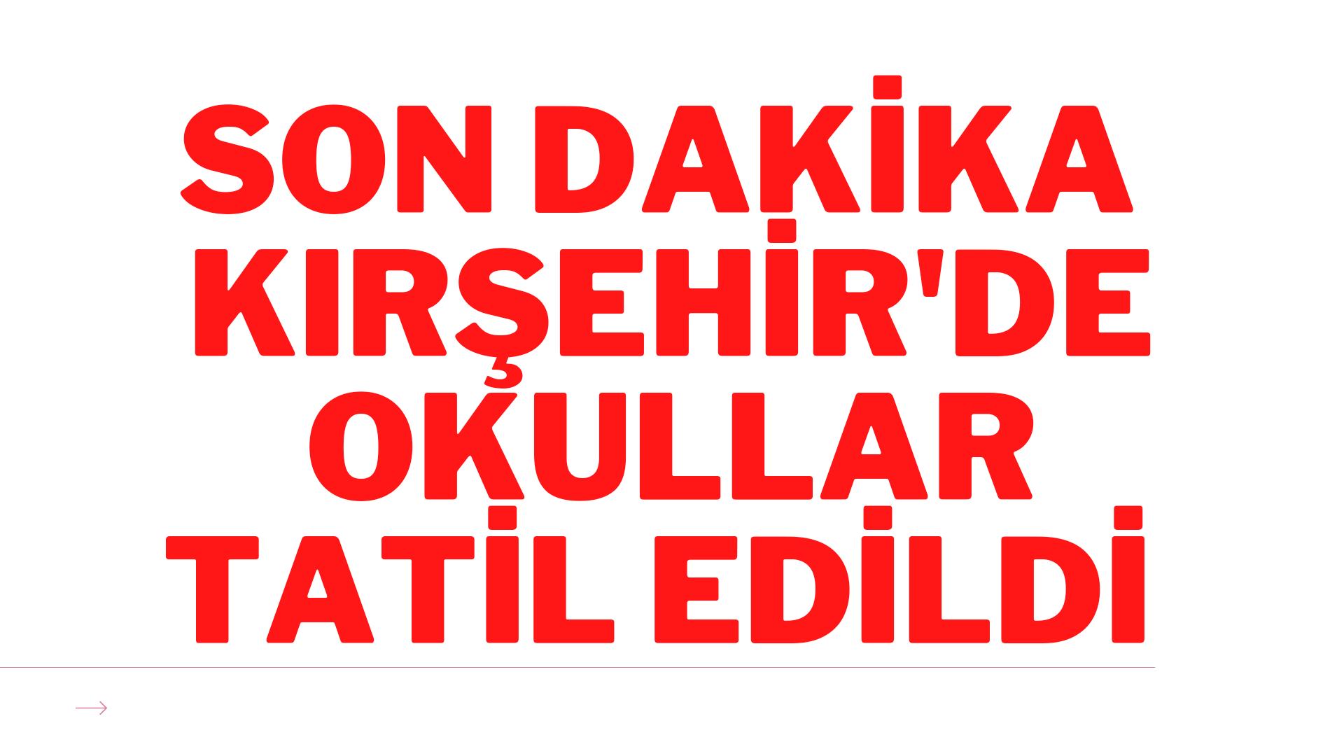 Kırşehir'de kar yağışı nedeniyle okullar tatil edildi