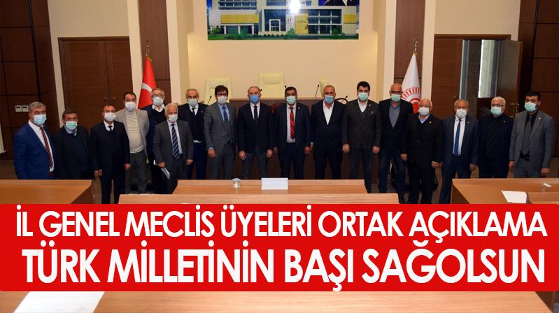 Kırşehir İl Genel Meclisi'nden Bitlis Şehitlerine Taziye Mesajı