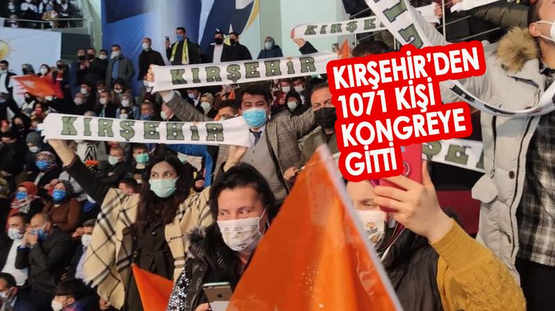 Kırşehir teşkilatı kongredeki yerini aldı