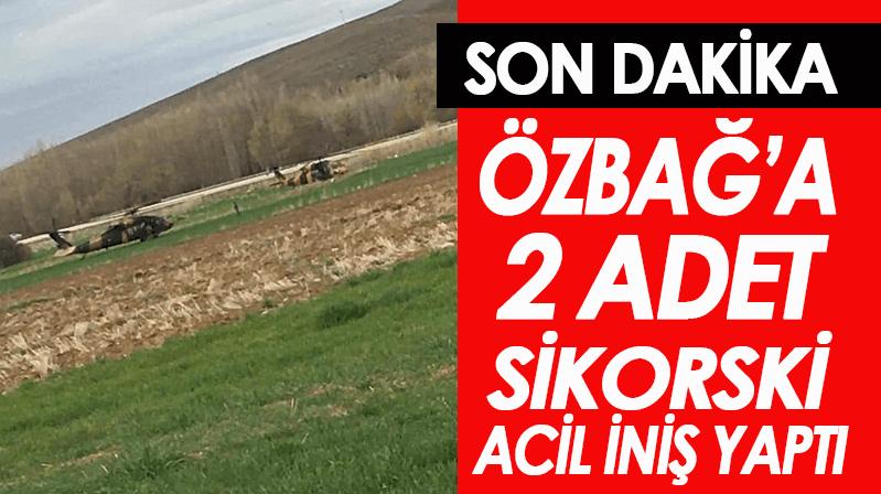Özbağ'a SKORSKY acil iniş yaptı