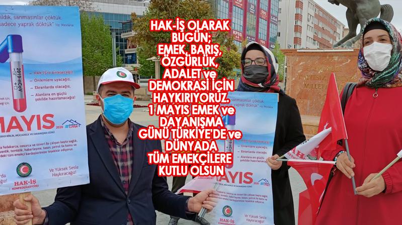 HAK-İŞ'dan 1 Mayıs İşçi Bayramı mesajı