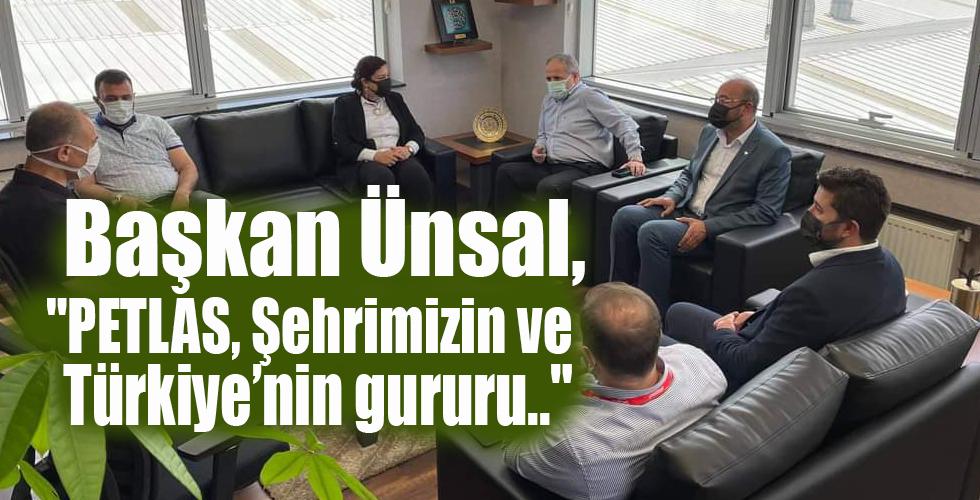 Başkan Ünsal, Kırşehir'in gururu Petlas'ı ziyaret etti