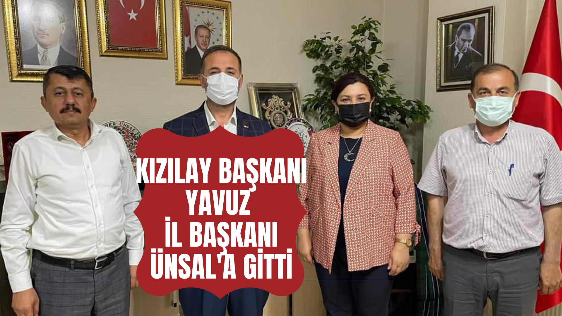 Türk Kızılay Başkanı Yavuz, İl Başkanı Ünsal'a gitti