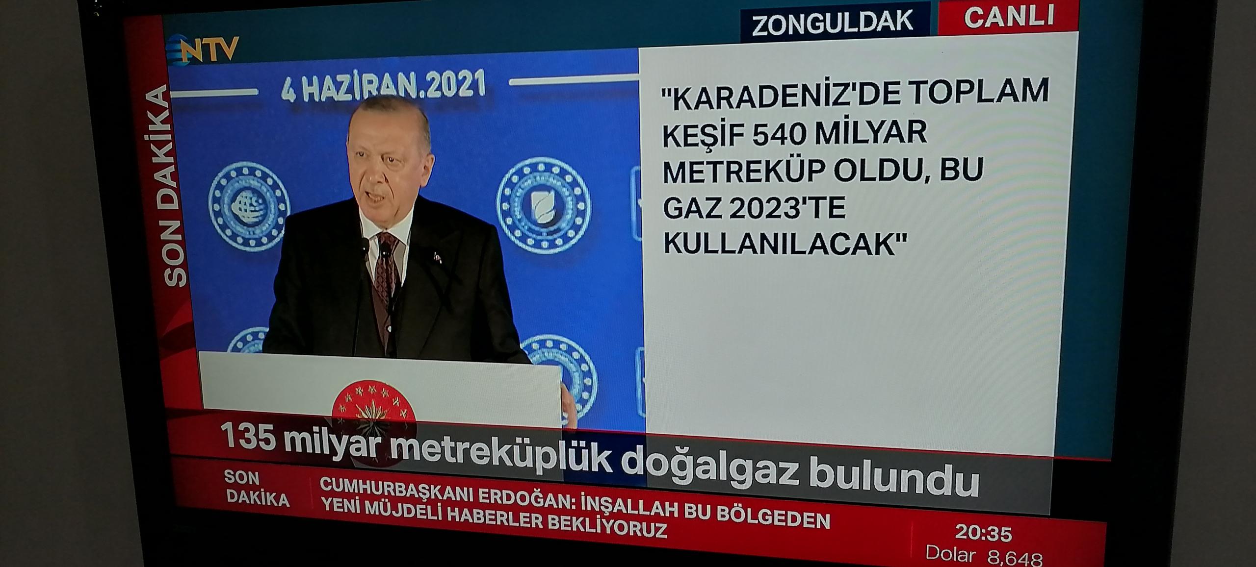 Erdoğan açıkladı, yeni doğalgaz keşfi yapıldı