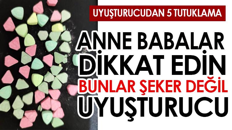 Kırşehir'de uyuşturucu operasyonu: 5 tutuklama