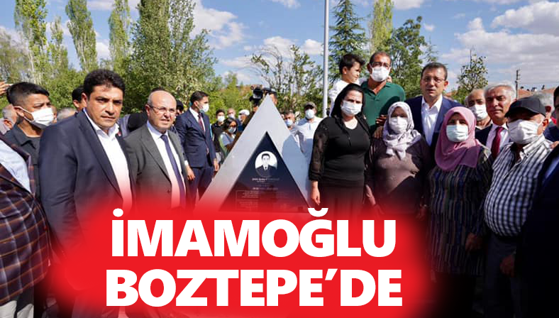 İstanbul Büyükşehir Belediye Başkanı Boztepe'de