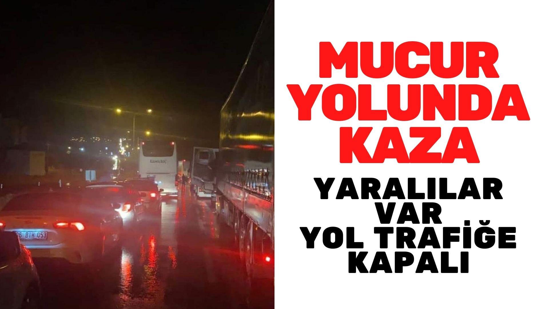 Mucur-Kırşehir arası kaza, yol kapalı
