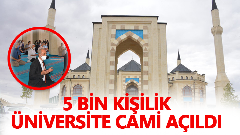 Ahi Evran Üniversitesi Cami İbadete Açıldı