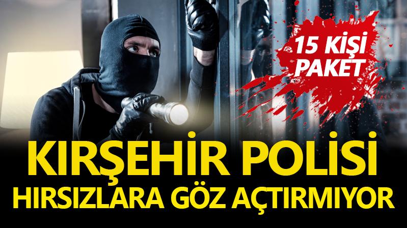 Kırşehir'de hırsızlık operasyonu: 15 gözaltı