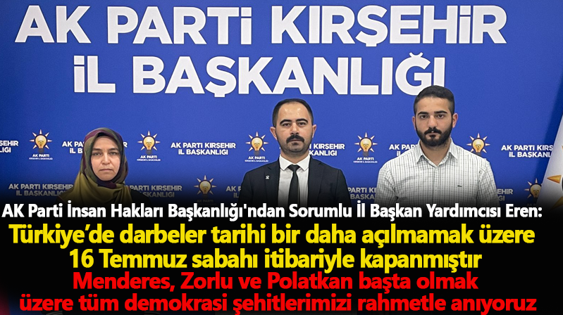 AK Parti İnsan Hakları Başkanlığı, Adnan Menderes ve arkadaşlarının idam edilişiyle ilgili basın açıklaması