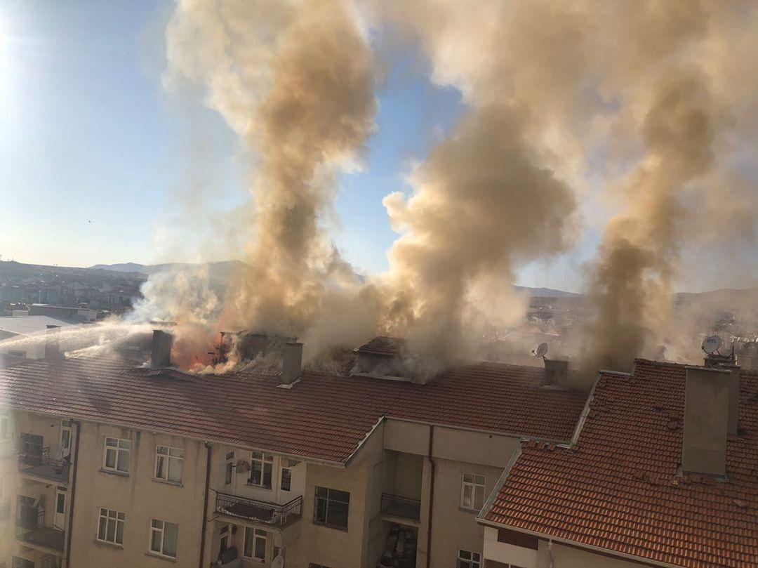 Kırşehir merkezde yangın