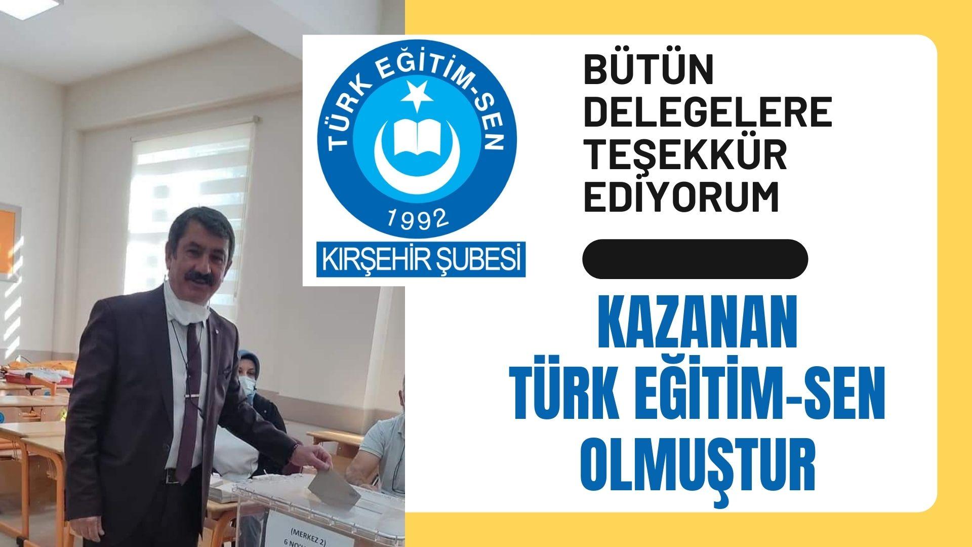 Türk-Eğitim-Sen Başkanı Pakel:Kazanan Türk Eğitim-Sen olmuştur