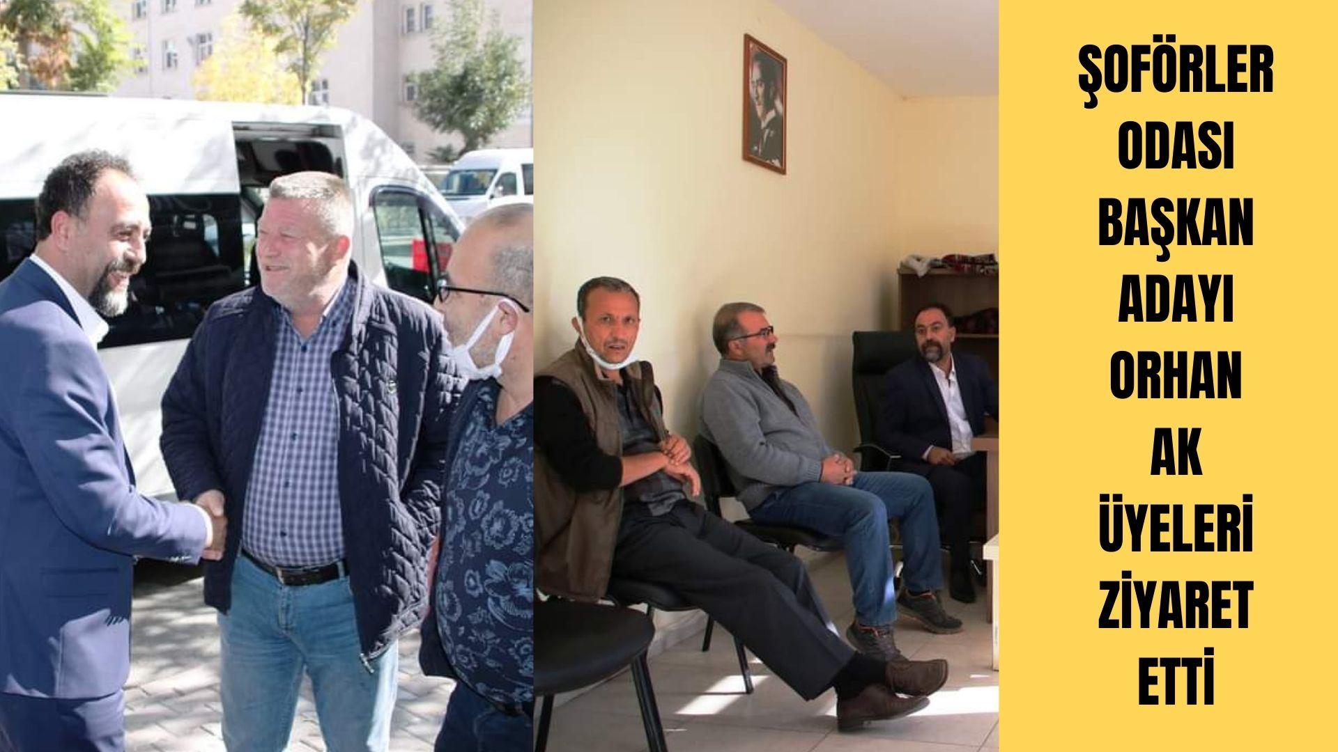 Başkan Adayı Orhan Ak, üyeleri ziyaret etti