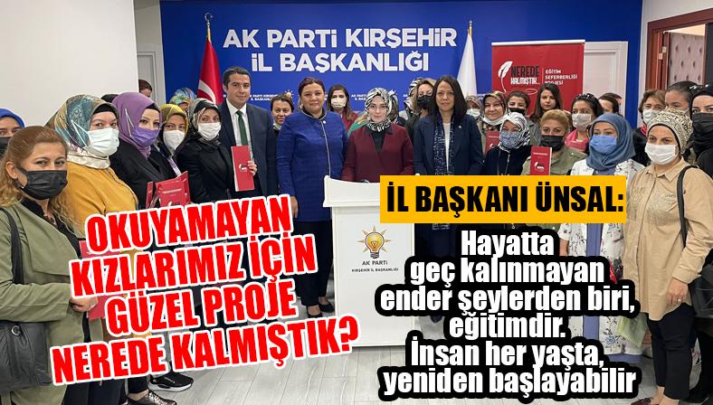 """AK Parti Kırşehir İl Başkanı Ünsal'dan """"Nerde Kalmıştık"""" projesiyle ilgili basın açıklaması…"""